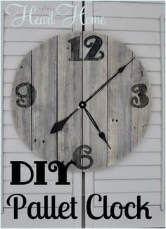 DIY Pallet Clock someone please make this for me!!!!