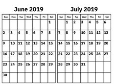 Check out Printable June July 2019 Calendar Monthly Templates, June And July 2019 Calendar PDF Word Excel Landscape Editable Blank Notes with Hoidays. Printable Blank Calendar, December Calendar, Calendar Pages, 2019 Calendar, November, Calendar Wallpaper, Printables, Templates, Words