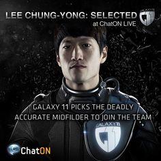 [ChatON LIVEpartner GALAXY11] Lee Chung-Yong: Selected / Humans vs. Aliens. GALAXY11 welcomes stellar South Korean winger, Lee Chng-Yong, as the 8th member. He may protect us from the Alien's onslaught.Stay tuned at GALAXY11 of the ChatON LIVEpartner to keep up with the ultimate football match. 인류 VS 에일리언.  에어리언에 대항할 8번째 선수로, 한국 최고의 윙어! 이청용 선수가 GALAXY11에 합류했습니다. 외계인들의 맹공격으로부터 우리를 지켜줄 이청용 선수의 활약을 기대하세요! ChatON LIVEpartner GALAXY11에서 인류의 미래를 건 축구 시합 소식을 계속 받아보세요.