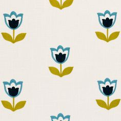 Embroidered Natural Fabric by Clarke and Clarke, Embroidered Tulips Fabric, Premium High Quality Linen and Cotton Fabric Clarke And Clarke Fabric, Retro Fabric, Roller Blinds, Christmas Wrapping, Navy And Green, White Fabrics, Soft Furnishings, Linen Bedding, Tulips