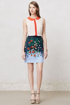 Vertical Garden Pencil Skirt $49.95