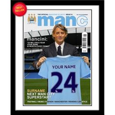 Personalised Manchester City Magazine Front Cover from Personalised Gifts Shop - ONLY Soccer Gifts, Sports Gifts, Gifts For Boys, Fathers Day Gifts, Superstar Football, Magazine Front Cover, City Magazine, Football Outfits, Soccer Fans