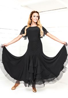 Chrisanne Morena Fleur Skirt | Dancesport Fashion @ DanceShopper.com