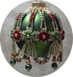 Victorian Splendor Beaded Ornament Cover Pattern by michelleskobel