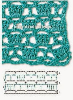 Para ti que te encanta el crochet, estas hermosas muestras van a inspirarte verdaderamente. Son puntos calados, y tienen la característica d. Knitting TechniquesCrochet For BeginnersCrochet PatronesCrochet Ideas Mode Crochet, Crochet Diy, Crochet Motifs, Crochet Diagram, Crochet Stitches Patterns, Freeform Crochet, Crochet Chart, Knitting Stitches, Stitch Patterns