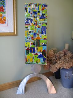Kiln formed glass made by artist Cindy Anderson of Chaska.