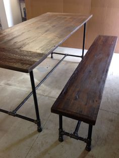 Projects Idea Of Steampunk Dining Table. Items similar to Reclaimed wood dining table industrial pipe base  x ft wide bench seat custom made order on Etsy 940 10ft Industrial Conference Table Solid Wood by EmmorWorks