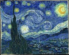 off Hand made oil painting reproduction of Starry Night, one of the most famous paintings by Vincent Van Gogh. Painted a year after his Starry Night Over the Rhone, Van Gogh&r. Gogh The Starry Night, Starry Nights, Stary Night Van Gogh, Starry Starry Night Painting, Starry Night Original, Van Gogh Pinturas, Arte Van Gogh, Van Gogh Paintings, Van Gogh Drawings