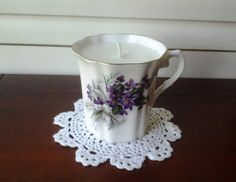 Lilac Scented Royal Grafton Fine Bone by BlueHenCandleCompany, $14.00