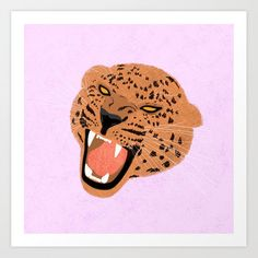 Roar Art Print by creaturecomforts | Society6