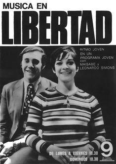 Publicidad programa MUSICA EN LIBERTAD, Canal 9, Buenos Aires, 1971.