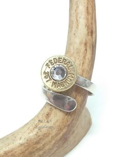 357 Magnum Sterling Silver Bullet Ring. $34.95, via Etsy.