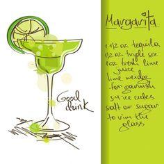 Margarita drink recipe.