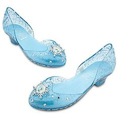 Elsa frozen shoes from disneystore.com (this is the actual disney store link). I can't wait until they get all this stuff back in stock!   $16.95