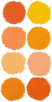 orange paint swatches