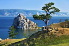 Wish tree on cape Burhan of Olkhon Island on Lake Baikal