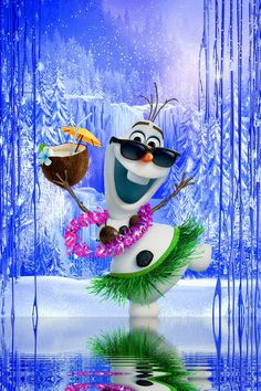 Olaf is ready to go to Hawaii Should I tell him Frozen Wallpaper, Disney Phone Wallpaper, Cute Wallpaper Backgrounds, Cartoon Wallpaper, Cute Wallpapers, Frozen Background, Disney Background, Winter Background, Cute Christmas Wallpaper