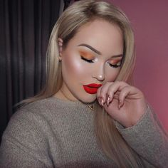 peachy eyeshadow look