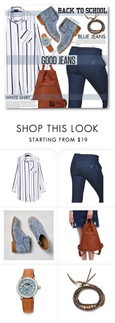 """""""Back to School: Denim Guide"""" by beebeely-look ❤ liked on Polyvore featuring The Seafarer, American Eagle Outfitters, Cullen, Shinola, Pascale Monvoisin, women's clothing, women, female, woman and misses"""
