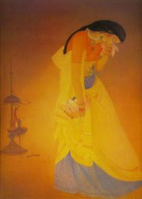 Rajee Sood: Loving the works of Chugtai M.A.R ... the great Indian Master ... Indian Art Paintings, Cool Paintings, Beautiful Paintings, Indian Folk Art, Indian Artist, India Painting, Indian Arts And Crafts, Gallery Of Modern Art, Art Gallery