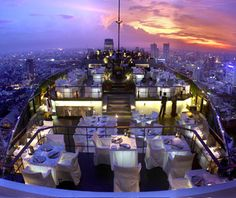 There are rooftop restaurants, and then there's Vertigo Grill and Moon Bar. You'll be seduced by the bright lights of the Thai capital, spread out like a theme park below, as you enjoy that rarest of Bangkok phenomena, the breeze (and you'll be away from any street-level air pollution). The concierge can arrange any details—flowers, special wine, the most private table—on request for hotel guests. Just don't get carried away and drop the ring: it's a long way down.
