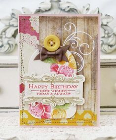 Happy Birthday Card by Melissa Phillips for Papertrey Ink (March 2013)