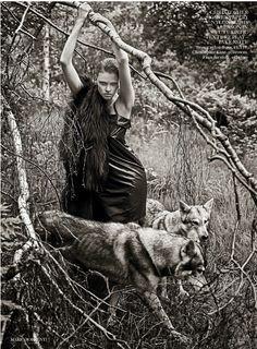 laravk1255 Vogue UK Setembro 2014 | Lara Stone por Mario Sorrenti  [Editorial]