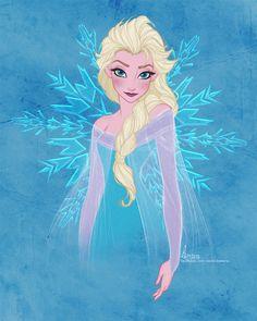Disney's FROZEN - Elsa by David Kawena by davidkawena.deviantart.com on @deviantART