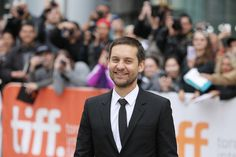Tobey Maguire smiled amid the fan excitement at the Toronto International Film Festival.