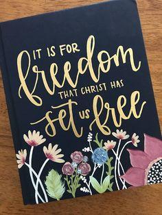 ESV Hand Painted Journaling Bible  Custom