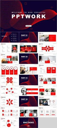 Red business startup presentations template – The highest quality PowerPoint Templates and Keynote T Design Powerpoint Templates, Professional Powerpoint Templates, Keynote Template, Slide Presentation, Presentation Design, Power Point Presentation, Business Presentation Templates, Corporate Presentation, Business Templates