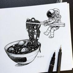 Galaxy ramen ramen ton love в 2019 г. art drawings, art и sp Galaxy Drawings, Space Drawings, Ink Drawings, Drawing Sketches, Simple Drawings, Realistic Drawings, Kawaii Drawings, Beautiful Drawings, Cartoon Drawings