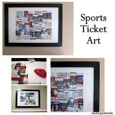 Sports ticket art. Good man present