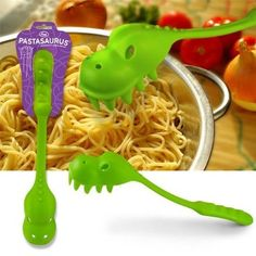 Pastasaurus Dinosaurier Spaghetti Zange