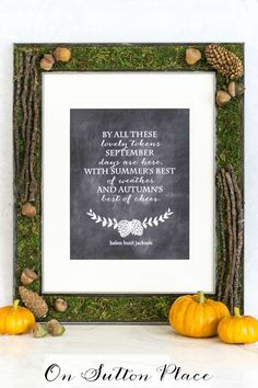 Make this DIY Fall Woodland Frame for your Fall wall art or photographs. Natural elements add the perfect touch of autumn to your decor!
