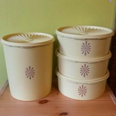 Vintage Tupperware Canister Set - Mercari: Anyone can buy & sell Tupperware Canisters, Tupperware Storage, Vintage Tupperware, Vintage Stuff, Vintage Love, Vintage Items, Retro Kitchens, Canister Sets, Kitchen Stuff