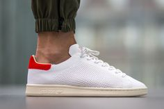 """e0d6778a6c98b adidas Stan Smith OG Primeknit """"White Red"""" Adidas Shoes, Adidas Og, Summer"""