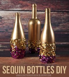 We all could use a little more glitz and glam in our lives. These sequin bottles will spice up any room. They would look great on your coffee table or even just in your dorm room. They give off the vibe of modern and stylish. Click here to view the full tutorial