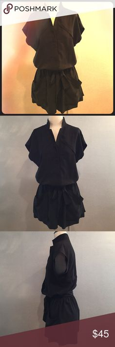 BCBGeneration Black Romper with Detachable Belt Detachable belt so you can style it with your favorite belt. Two ample front pockets. Worn only a few times. BCBGeneration Pants Jumpsuits & Rompers