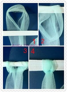 DIY Projects - How to Make a Tutu Skirt / Dress with tulle ribbon