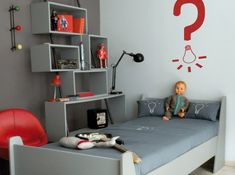 Most Design Ideas Red Boys Bedroom Pictures, And Inspiration – Modern House Cool Kids Bedrooms, Red Bedding, Bedroom Red, Red Rooms, Home Interior, Boy Room, Child Room, Room Inspiration, Room Decor