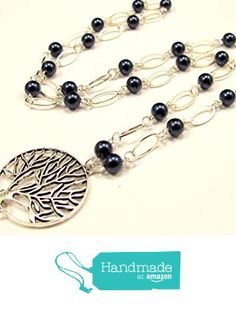 Tree of Life Lanyard with Pearls in Silver from By Brenda Elaine Jewelry…