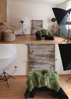 1 year old baby session setup
