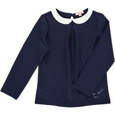 8da83186f20a Tee-shirt manches longues fille Bleu