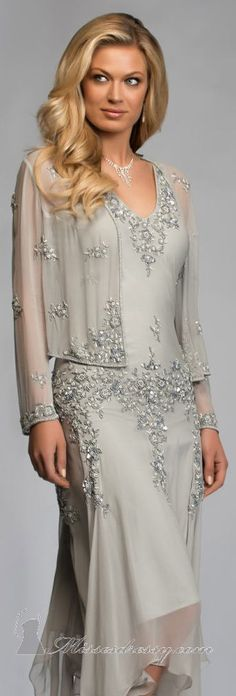 Bead Embellished Dress by Scala Mother of the Bride
