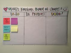 A kanban board works just as well at home