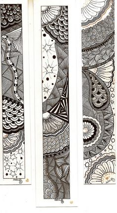 Inspiration for zen bookmarks on my to do list with paper scraps I've saved..... and done zilch with so far :)