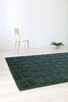 FOREST rug design by Finnish designer Teresa Moorhouse. Ethically made by hand by Mum's artisans in India. Forest Design, Deep Forest, Nordic Design, Playroom, Basement, Artisan, India, Colour, Contemporary