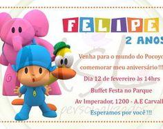 Convite Pocoyo 10x15