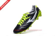 Mens Black/White/Volt FG MIZUNO Kangaroo skin Shop For Shoes